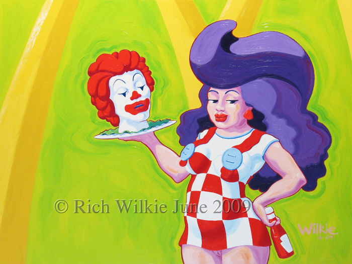 Oil Painting Rich Wilkie Bob's Big Girl has a Different Kind of Craving